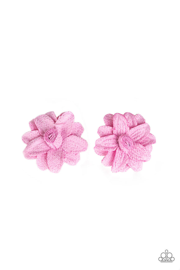 Paparazzi Lovely In Lilies - Pink Petals - Pair of Hair Clips