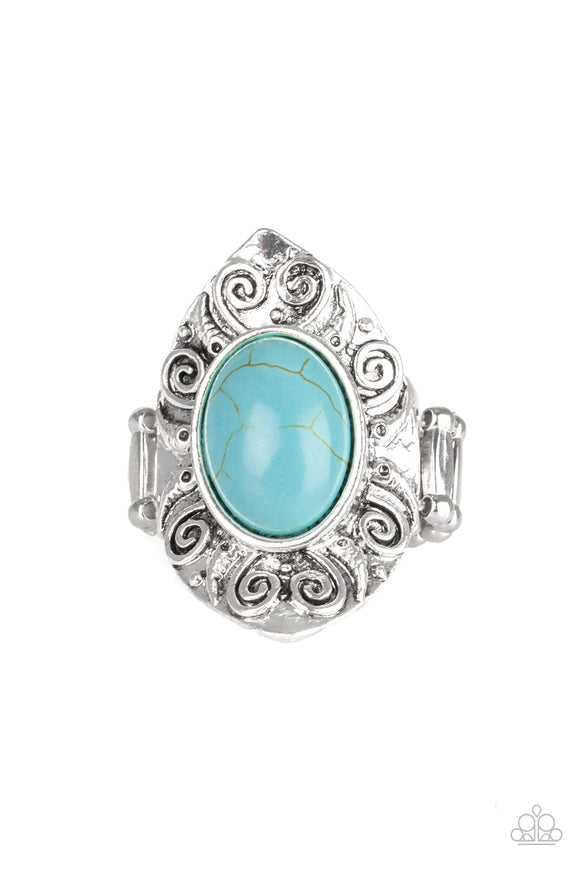 PRE-ORDER - Paparazzi Mega Mother Nature - Blue Turquoise Stone - Ring - Lauren's Bling $5.00 Paparazzi Jewelry Boutique