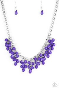 Paparazzi Modern Macarena - Purple Teardrop Beads - Necklace and matching Earrings - Lauren's Bling $5.00 Paparazzi Jewelry Boutique