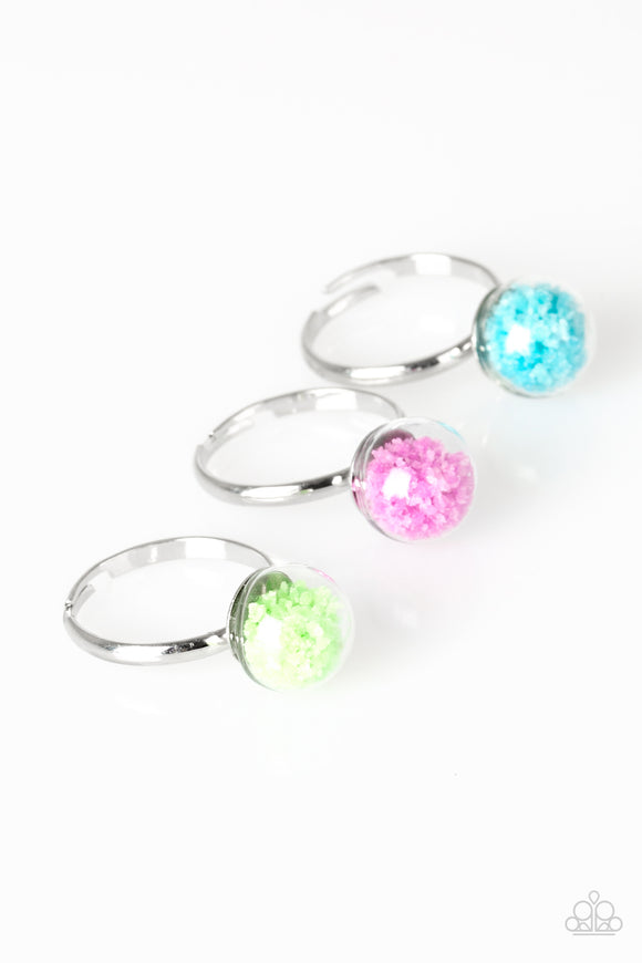 Paparazzi Starlet Shimmer Rings - 10 - Confetti - Green, Pink, Turquoise and Orange/Coral - Lauren's Bling $5.00 Paparazzi Jewelry Boutique