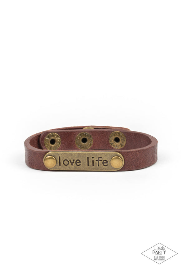 Paparazzi Love Life - Brown - Leather Inspirational