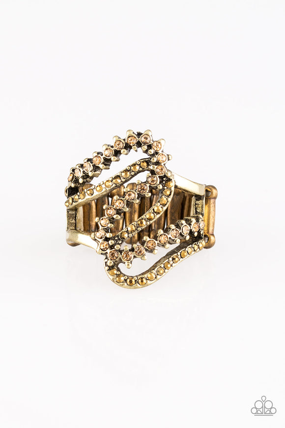 PRE-ORDER - Paparazzi Make Waves - Brass - Ring - Lauren's Bling $5.00 Paparazzi Jewelry Boutique