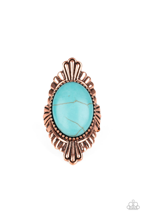 Paparazzi Pioneer Party - Copper - Turquoise Stone - 2019 Convention Exclusive