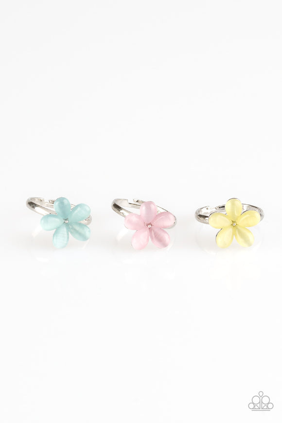 Starlet Shimmer Rings - 10 - Green, Pink, Yellow, Blue - Hawaiian Moonstone Flowers