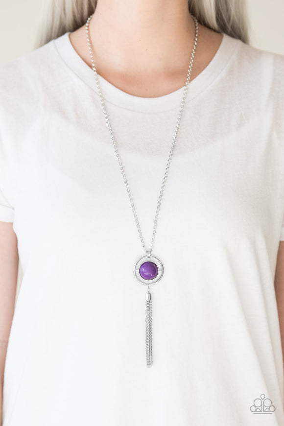Paparazzi Always Front and Center - Purple - Necklace and matching Earrings - Lauren's Bling $5.00 Paparazzi Jewelry Boutique