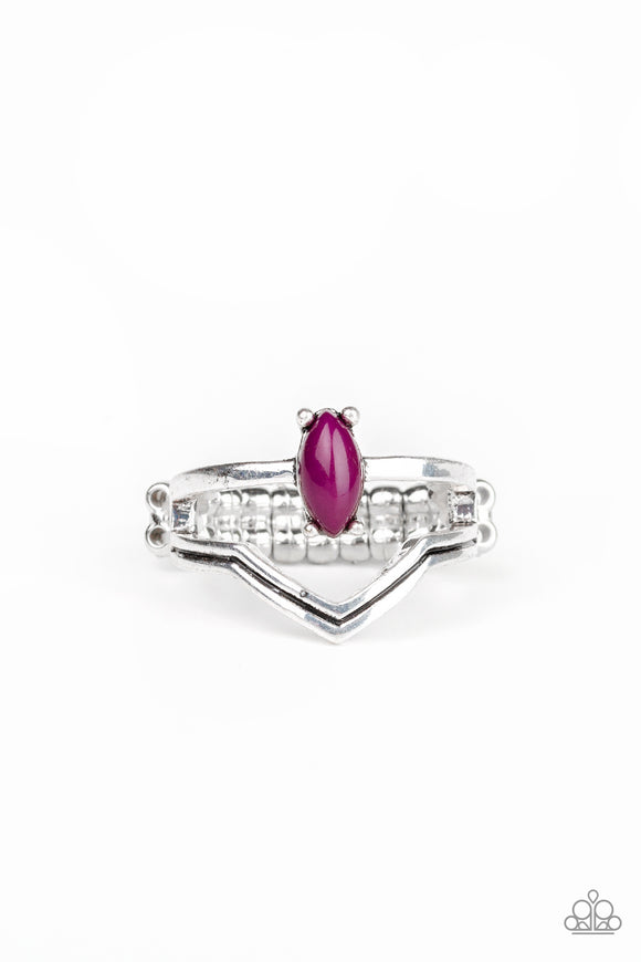 Paparazzi Panama Peak - Purple Bead - Silver Ring - Lauren's Bling $5.00 Paparazzi Jewelry Boutique