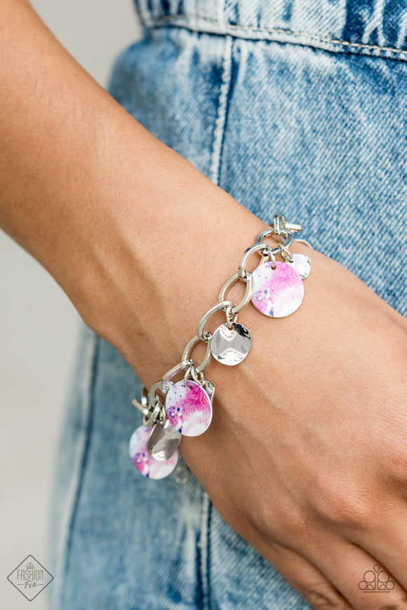 Paparazzi Teasingly Tie Dye - Multi - Bracelet - Trend Blend / Fashion Fix Exclusive - October 2020 - Lauren's Bling $5.00 Paparazzi Jewelry Boutique