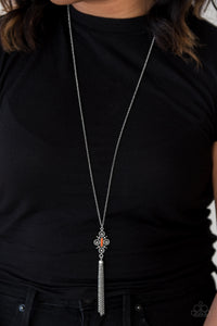 Paparazzi Sedona Skies - Orange - Necklace and matching Earrings - Lauren's Bling $5.00 Paparazzi Jewelry Boutique