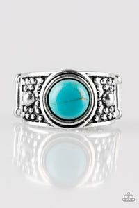 Paparazzi Summer Oasis - Blue Turquoise Stone - Silver Artisan Ring - Lauren's Bling $5.00 Paparazzi Jewelry Boutique