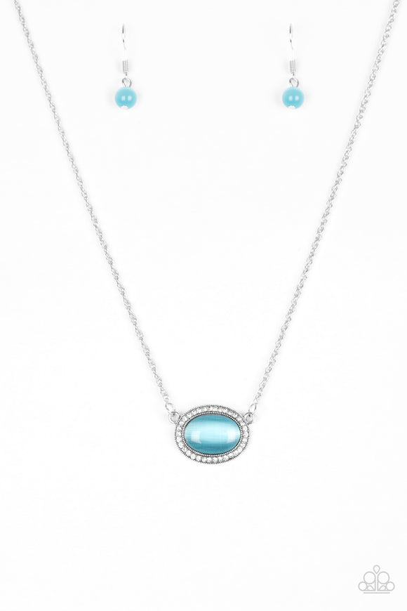 Anything GLOWS - Blue Moonstone Necklace