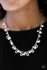 Paparazzi Elegant Ensemble - Silver Beads - Shimmery Silver Chain Necklace & Earrings - Lauren's Bling $5.00 Paparazzi Jewelry Boutique