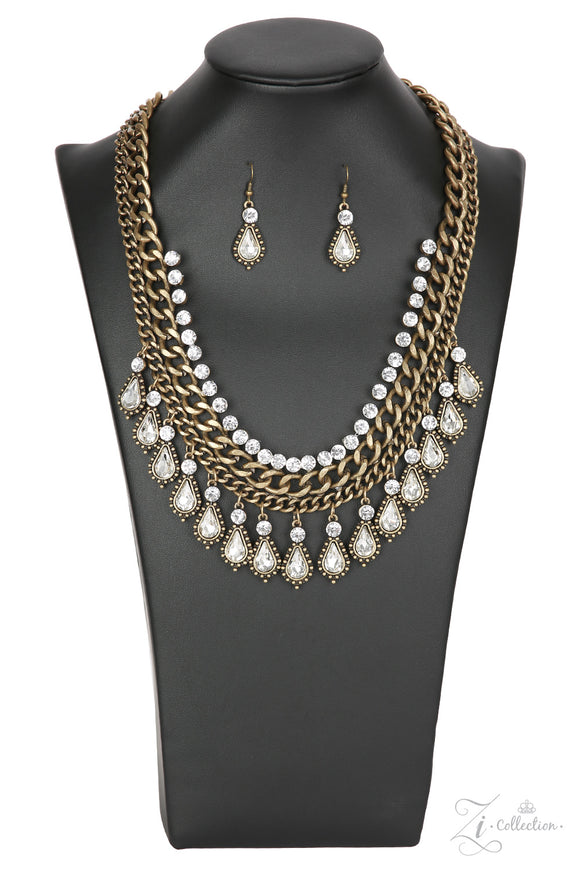 Paparazzi Revolution - Zi Collection - Necklace and matching Earrings