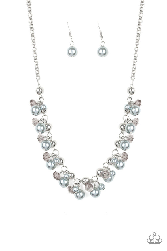 Paparazzi Duchess Royale - Silver Pearls - Necklace and matching Earrings - Lauren's Bling $5.00 Paparazzi Jewelry Boutique