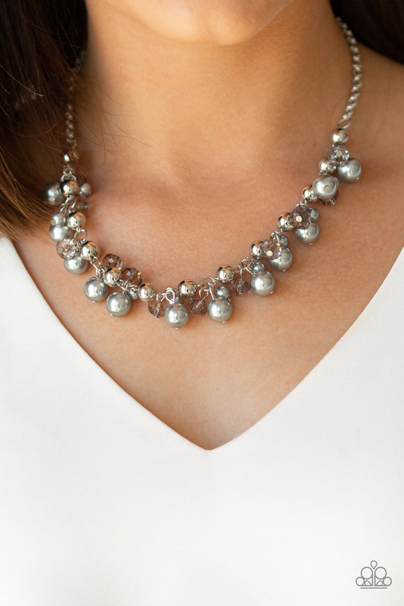 Paparazzi Duchess Royale - Silver Pearls - Necklace & Earrings - Lauren's Bling $5.00 Paparazzi Jewelry Boutique