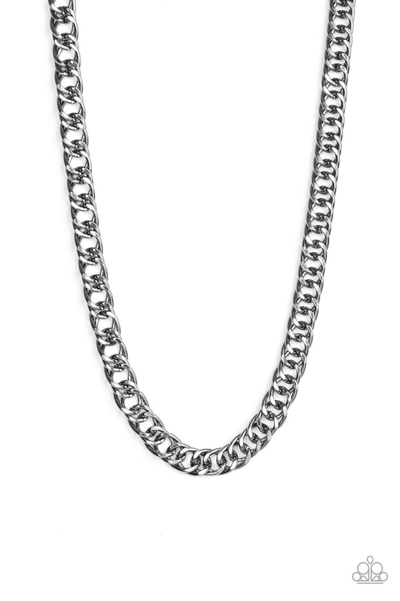 Paparazzi Omega - Black - Bold Cable Chain - Necklace - Men's Collection