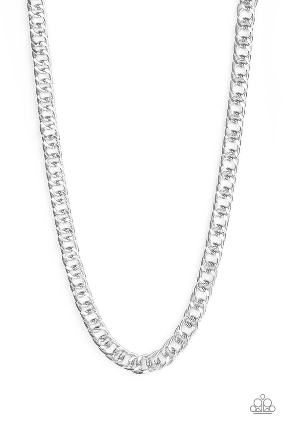 Paparazzi Omega - Silver - Bold Cable Chain - Necklace - Men's Collection