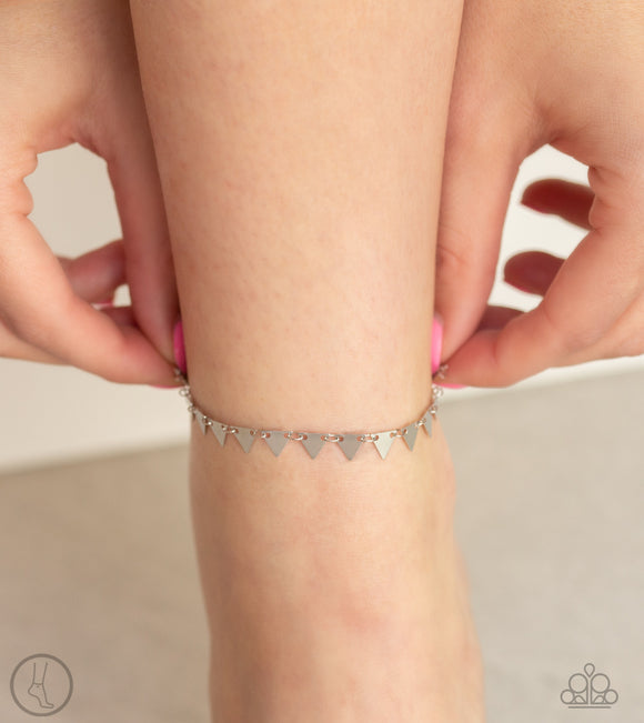 Paparazzi Sand Shark - Silver Ankle Bracelet - Anklet - Brand New for 2019! - Lauren's Bling $5.00 Paparazzi Jewelry Boutique