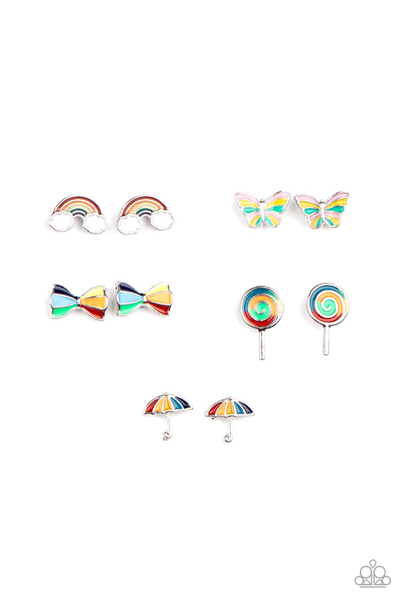 Paparazzi Girls Starlet Shimmer Earrings - 10 - Bows, Rainbows, Umbrellas, Lollipops & Butterflies