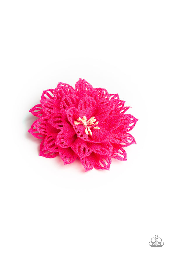 Paparazzi Yes I TROPICANA - Pink Petals - Beaded Center - Tropical Flower - Hair Clip - Lauren's Bling $5.00 Paparazzi Jewelry Boutique