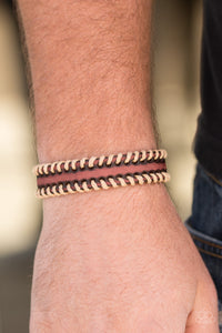 Paparazzi Trail Excursion - Brown Leather Bracelet - Lauren's Bling $5.00 Paparazzi Jewelry Boutique