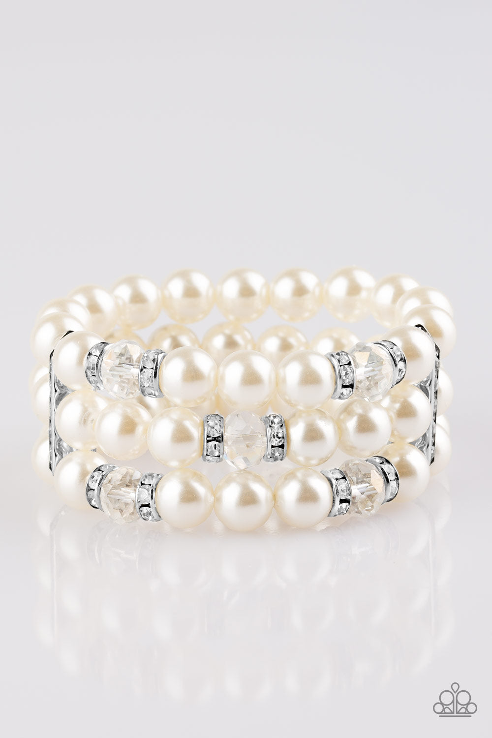 676e954f6ca17 Undeniably Dapper - White Pearl Bracelet - Life of the Party Exclusive  December 2018