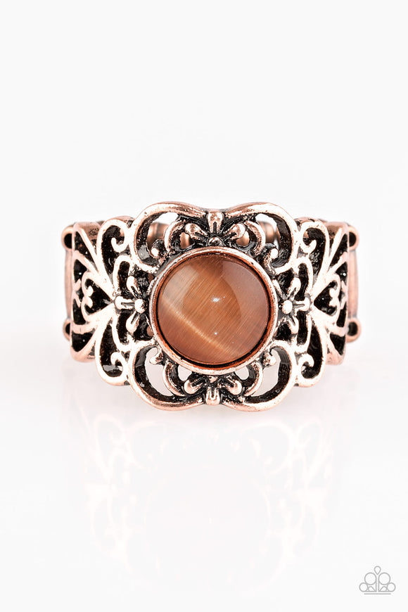Paparazzi Vienna View - Copper Band - Moonstone - Ring - Lauren's Bling $5.00 Paparazzi Jewelry Boutique