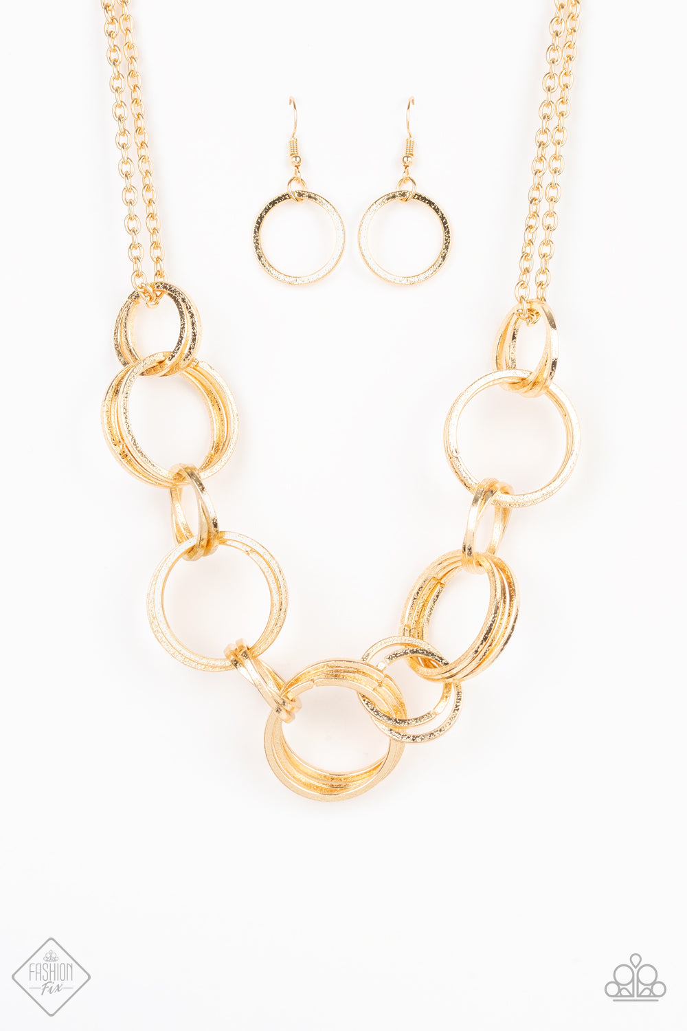 Paparazzi Jump Into The Ring Gold Necklace Trend Blend Fashion