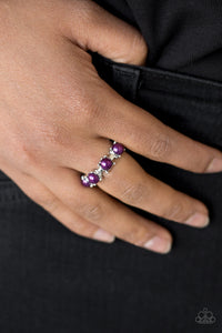 Paparazzi More Or PRICELESS - Purple - Beads - Silver Band Dainty Ring - Lauren's Bling $5.00 Paparazzi Jewelry Boutique
