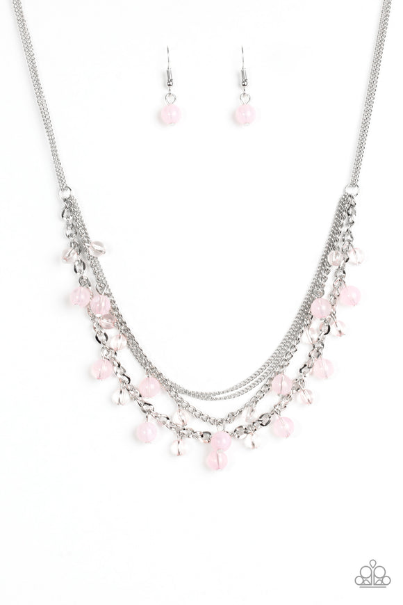 Ocean Odyssey - Pink Necklace - Lauren's Bling $5.00 Paparazzi Jewelry Boutique