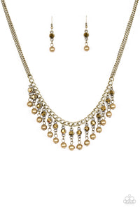 Pageant Queen - Brass Necklace - Lauren's Bling $5.00 Paparazzi Jewelry Boutique
