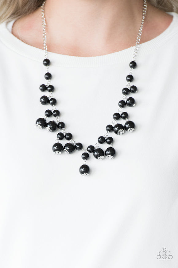 Paparazzi Soon To Be Mrs. - Black - Necklace & Earrings - Lauren's Bling $5.00 Paparazzi Jewelry Boutique