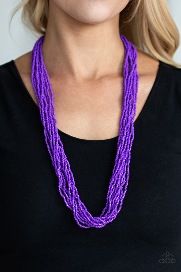 Paparazzi Congo Colada - Purple - Seed Beads - Necklace & Earrings - Lauren's Bling $5.00 Paparazzi Jewelry Boutique