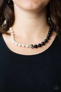 Paparazzi 5th Avenue A-Lister - Black - White Pearls - Necklace & Earrings - Lauren's Bling $5.00 Paparazzi Jewelry Boutique