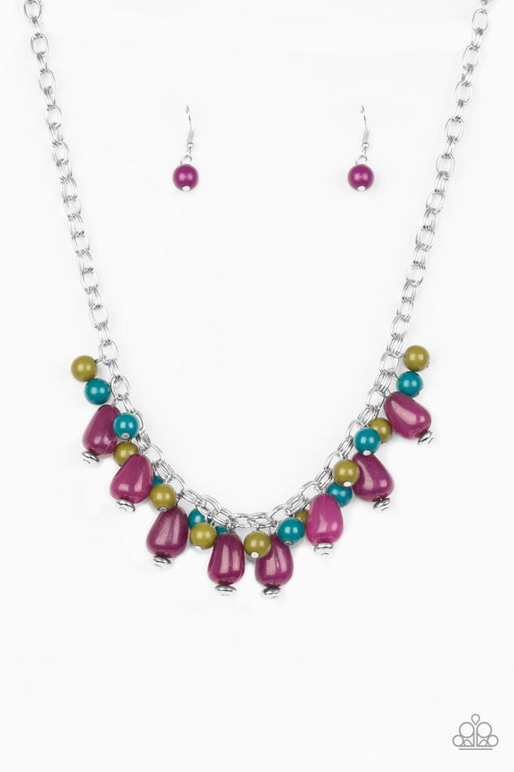 Paparazzi Jammin Jambalaya - Multi - Purple, Green and Blue Beads - Necklace and matching Earrings - Lauren's Bling $5.00 Paparazzi Jewelry Boutique