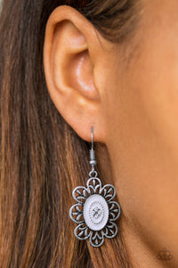 Paparazzi Posy Party - Silver - Earrings - Lauren's Bling $5.00 Paparazzi Jewelry Boutique