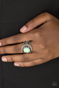 Paparazzi Vacation Vibes - Green Spearmint Bead - Silver Ring - Lauren's Bling $5.00 Paparazzi Jewelry Boutique