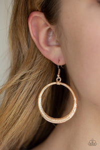 Paparazzi Modern Shimmer - Rose Gold - Thick Hammered Hoop - Earrings - Lauren's Bling $5.00 Paparazzi Jewelry Boutique