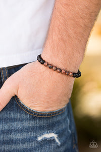 Paparazzi Bliss - Brown - Black Stones - Stretchy Bracelet - Lauren's Bling $5.00 Paparazzi Jewelry Boutique