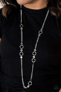 Paparazzi Stylishly Steampunk - Silver Necklace and matching Earrings - Lauren's Bling $5.00 Paparazzi Jewelry Boutique