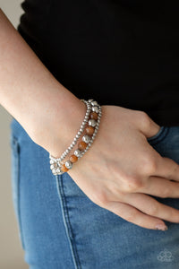 Paparazzi Go With The GLOW - Brown - Cat's Eye Beads - Set of 3 Bracelets - Lauren's Bling $5.00 Paparazzi Jewelry Boutique
