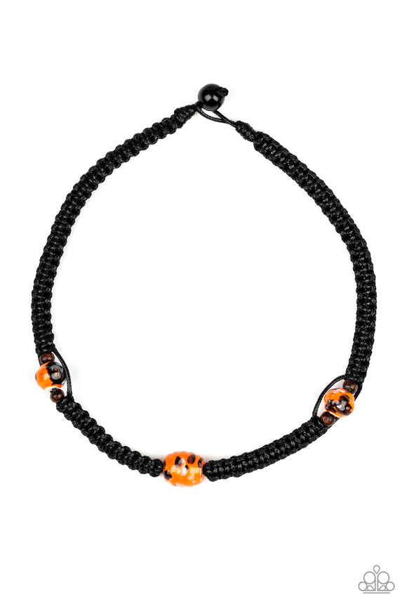 Paparazzi Rate Of Climb - Orange and Wooden Beads - Urban Necklace - Lauren's Bling $5.00 Paparazzi Jewelry Boutique