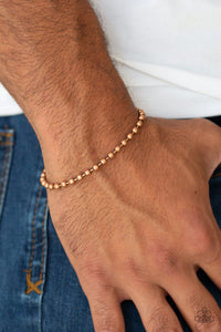Paparazzi The Recruit - Copper - Chain - Men's Collection - Bracelet - Lauren's Bling $5.00 Paparazzi Jewelry Boutique