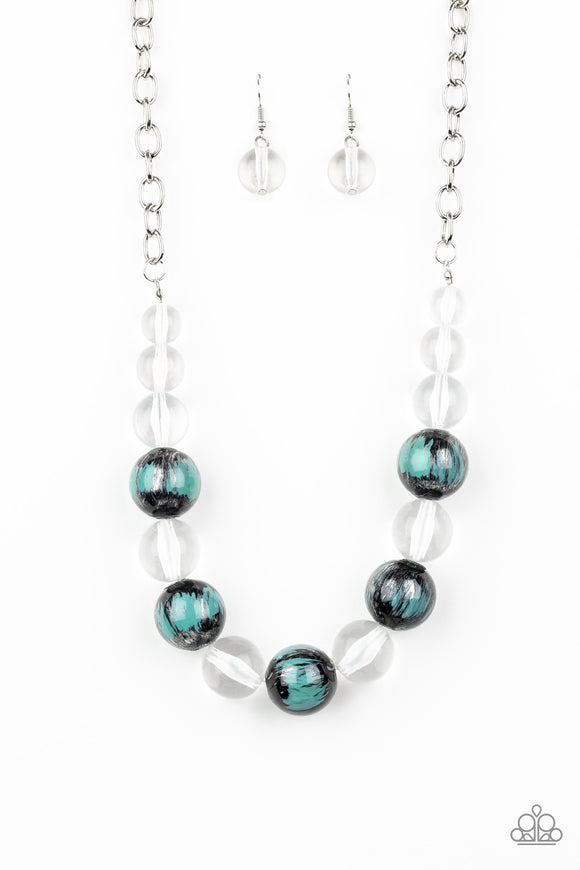 Paparazzi Torrid Tide - Blue - Necklace and matching Earrings - Lauren's Bling $5.00 Paparazzi Jewelry Boutique