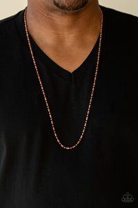 Paparazzi Covert Operation - Copper - Men's Collection Necklace - Lauren's Bling $5.00 Paparazzi Jewelry Boutique
