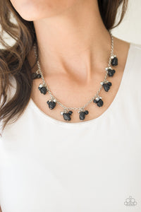 Paparazzi Rocky Mountain Magnificence - Black Stone Beading - Silver Chain Necklace - Lauren's Bling $5.00 Paparazzi Jewelry Boutique