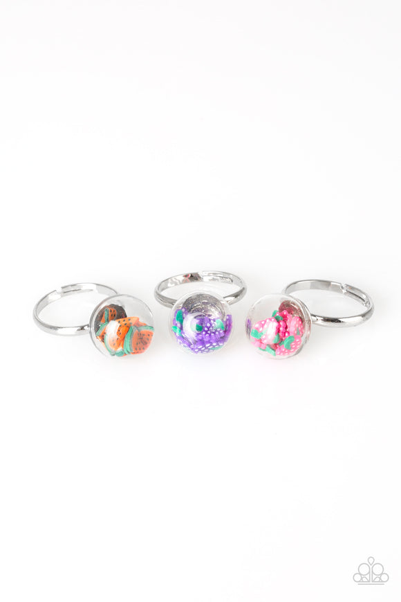Paparazzi Starlet Shimmer Rings - 10 - Confetti - Fruits - Strawberry, Grape, Pineapple, Orange - Lauren's Bling $5.00 Paparazzi Jewelry Boutique