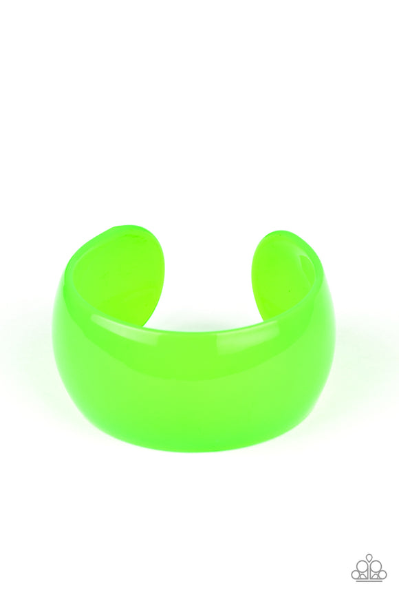 Pre-Order Ships 4/7 Paparazzi Fluent in Flamboyance - Green - Acrylic Cuff Bracelet