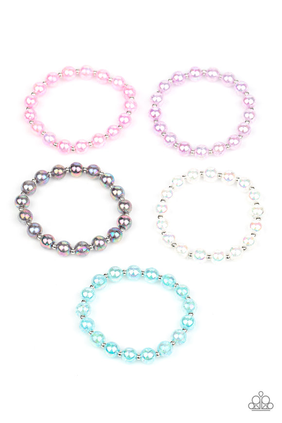 Paparazzi Starlet Shimmer Bracelets - 10 - OIL SPILL Iridescent, Blue, White, Pink, Purple - Lauren's Bling $5.00 Paparazzi Jewelry Boutique