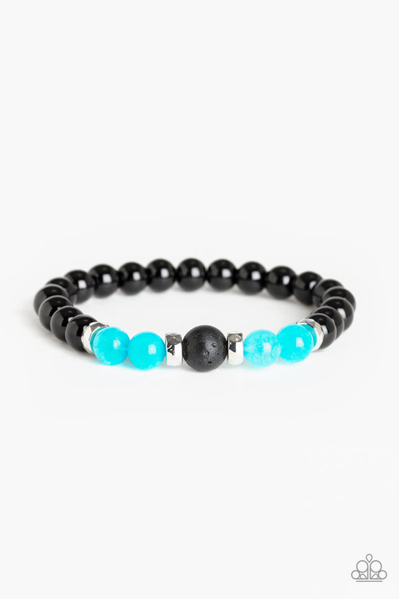 Paparazzi Super Serene - Blue - Stone Beads - Stretchy Bracelet - Lauren's Bling $5.00 Paparazzi Jewelry Boutique