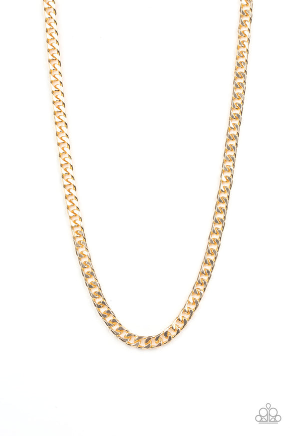 Paparazzi The Game CHAIN-ger - Gold - Thick Chain - Necklace - Men's Collection